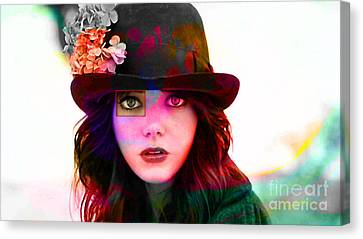 Emma Stone Canvas Print by Marvin Blaine