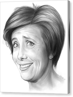 Emma Thompson Canvas Print