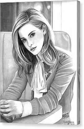 Emma Watson Canvas Print by Crystal Rosene