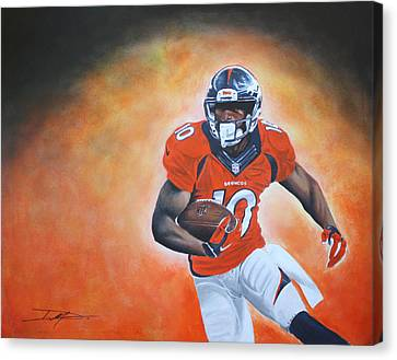 Emmanuel Sanders Canvas Print by Don Medina