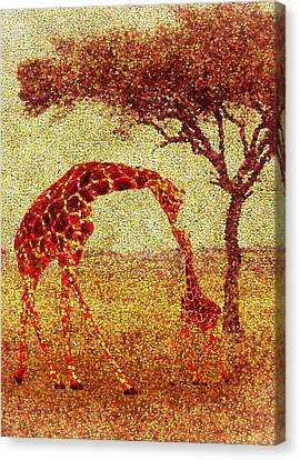 Change Canvas Print - Emma's Giraffe by Jack Zulli