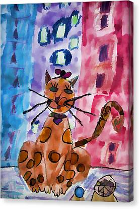 Emma's Spotted Kitty Canvas Print