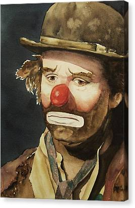Emmett Kelly Canvas Print by Greg and Linda Halom