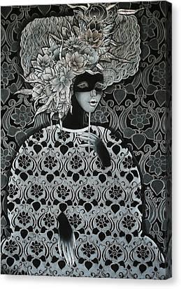 Emotion Of Grey Canvas Print