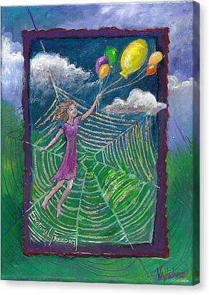 Emotional Freedom -- Flower Essence Series Canvas Print by Maria Valladarez