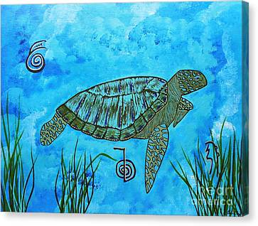 Emotional Healing With The Sea Turtle Canvas Print