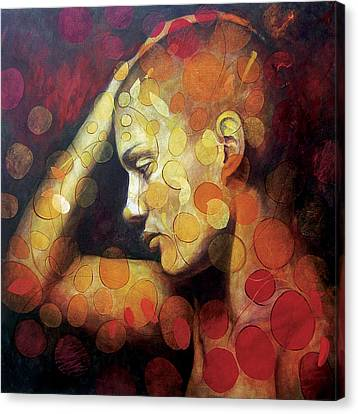 Girl Profile Canvas Print - Emotions by Karina Llergo