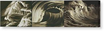 Emotions Of The Sea Canvas Print