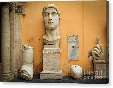 Emperor Constantine Canvas Print by Inge Johnsson