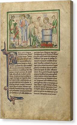 Emperor Domitian Speaking To Saint John The Evangelist Canvas Print by Litz Collection