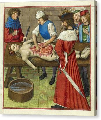 Emperor Nero At His Mother's Dissection Canvas Print by British Library
