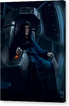 Death Canvas Print - Emperor Palpatine by Ryan Barger