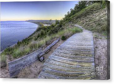 Scenic Drive Canvas Print - Empire Bluff In Sleeping Bear Dunes by Twenty Two North Photography