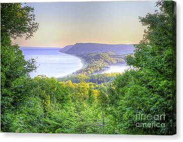 Scenic Drive Canvas Print - Empire Bluff Trail Overlook by Twenty Two North Photography