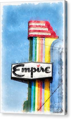 Empire Movie Theater Neon Sign Canvas Print by Edward Fielding