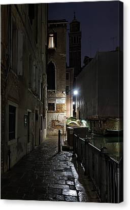 Canvas Print featuring the photograph Empire Of Venetian Light by Marion Galt