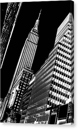 Downtown Canvas Print - Empire Perspective by Az Jackson