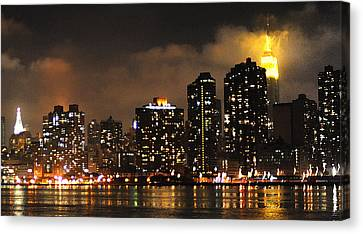 Empire State Building From Long Island City Canvas Print by Steve Archbold