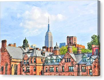 Empire State Building From The High Line Canvas Print by Randy Aveille