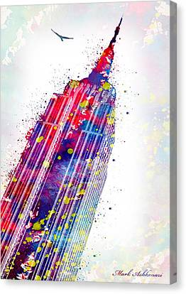 Empire State Building Canvas Print by Mark Ashkenazi