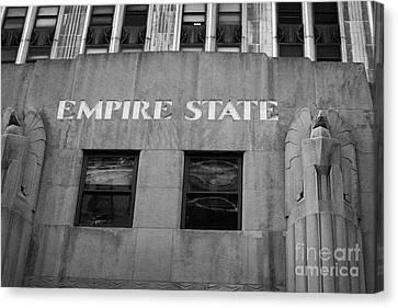 Manhaten Canvas Print - Empire State Building Nameplate Art Deco Gold Writing New York by Joe Fox