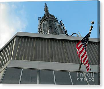 Empire State Building Point Of View Canvas Print by Emmy Marie Vickers