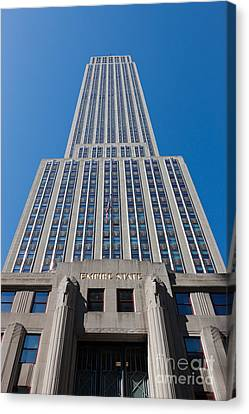 Empire State Building Rising I Canvas Print by Clarence Holmes