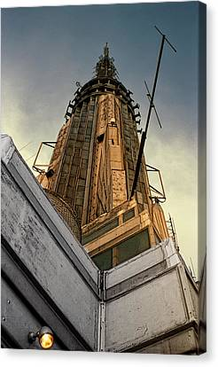 Times Square Canvas Print - Empire State Building Summit by Daniel Hagerman