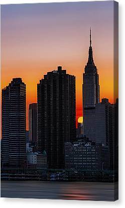 Empire State Building Sunset Canvas Print by Susan Candelario