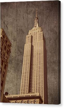 Empire State Building Vintage Canvas Print