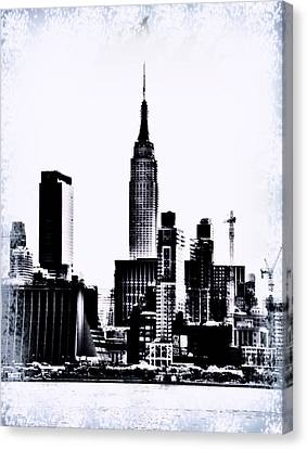 Empire State - Nyc Canvas Print by Bill Cannon