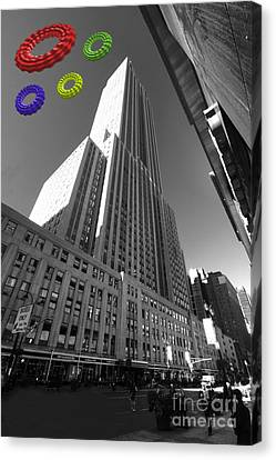 Empire State Of The Rings  Canvas Print by Rob Hawkins