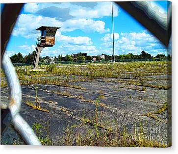 Employee Parking Lot Canvas Print by MJ Olsen