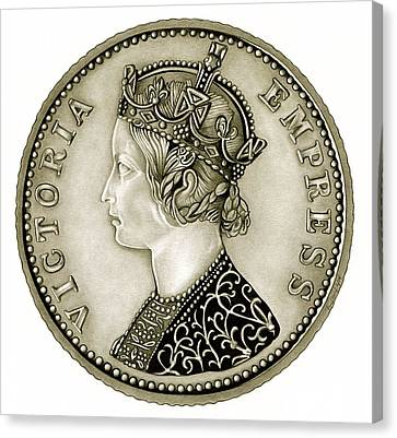 Silver Empress Victoria Canvas Print