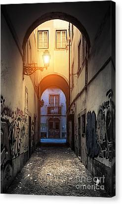 Empty Alley Canvas Print by Carlos Caetano