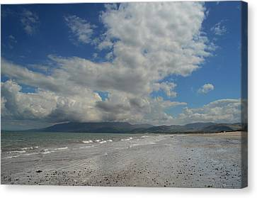 Empty Beach Canvas Print by Barbara Walsh