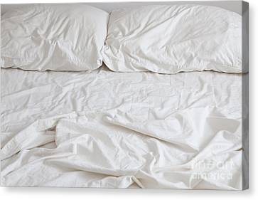 Empty Bed Canvas Print