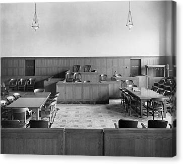 Empty Courtroom Canvas Print