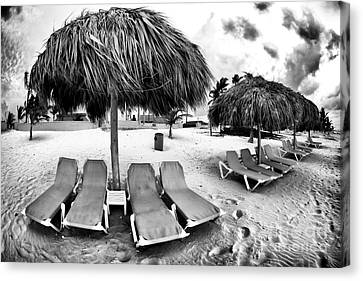 Empty Lounges Canvas Print by John Rizzuto