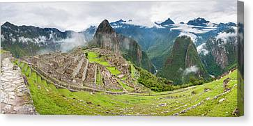 Empty Machu Picchu Complex Early Canvas Print by Panoramic Images