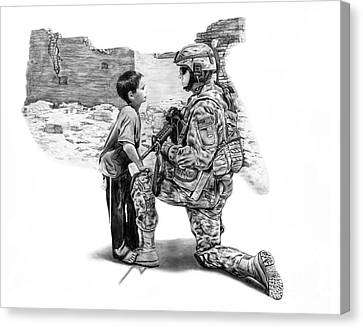 Soldiers Canvas Print - Empty Pockets  by Peter Piatt