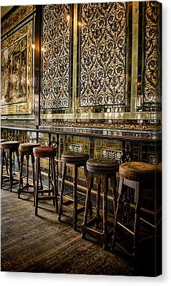 Empty Pub Canvas Print by Heather Applegate