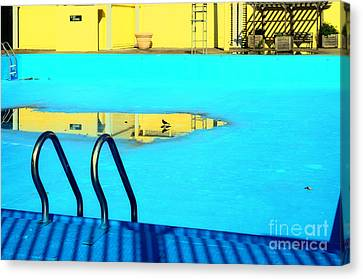 Turquois Water Canvas Print - Empty Public Swimming Pool Bronx New York City by Sabine Jacobs