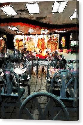 Empty Restaurant Canvas Print by Robert Smith