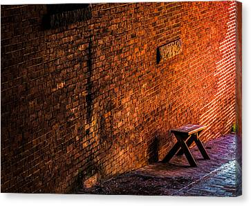 Empty Seat On A Hill Canvas Print by Bob Orsillo