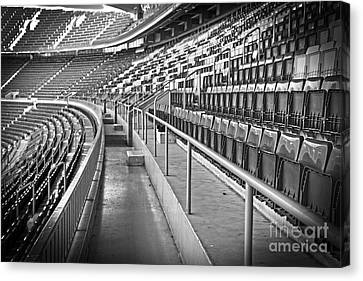 Empty Chairs Canvas Print - Empty Soccer Stadium by Michal Bednarek