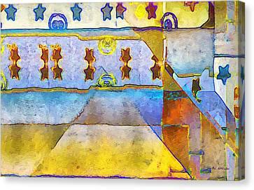 Empty Stage Canvas Print by RC deWinter