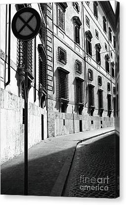 Empty Street Canvas Print by John Rizzuto