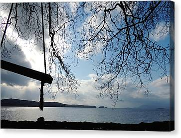 Canvas Print featuring the photograph Empty Swing by Karen Horn
