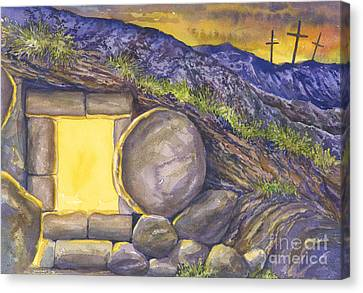 Empty Tomb Or Life And Death Canvas Print by Mark Jennings